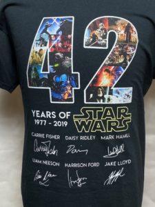 スターウォーズTシャツSW42th 1977~2019