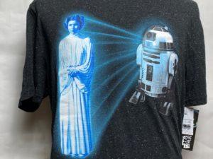 目玉品コレクション放出品 大人気柄 R2D2&ホログラフィックレイアTシャツ