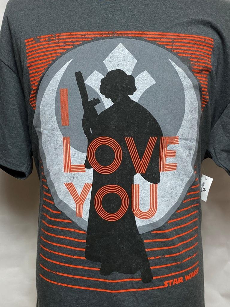 スターウォーズTシャツ シルエットレイア 「I Love Youと言って」